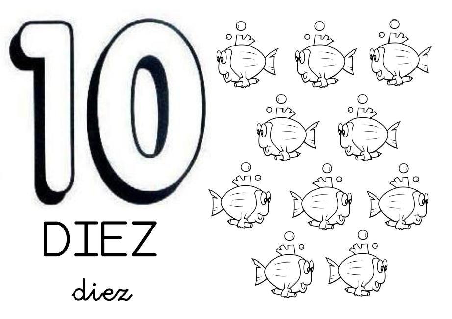 COSITAS PARA EL COLE: CARTELES NÚMEROS 0-10 | Aprestamiento ...