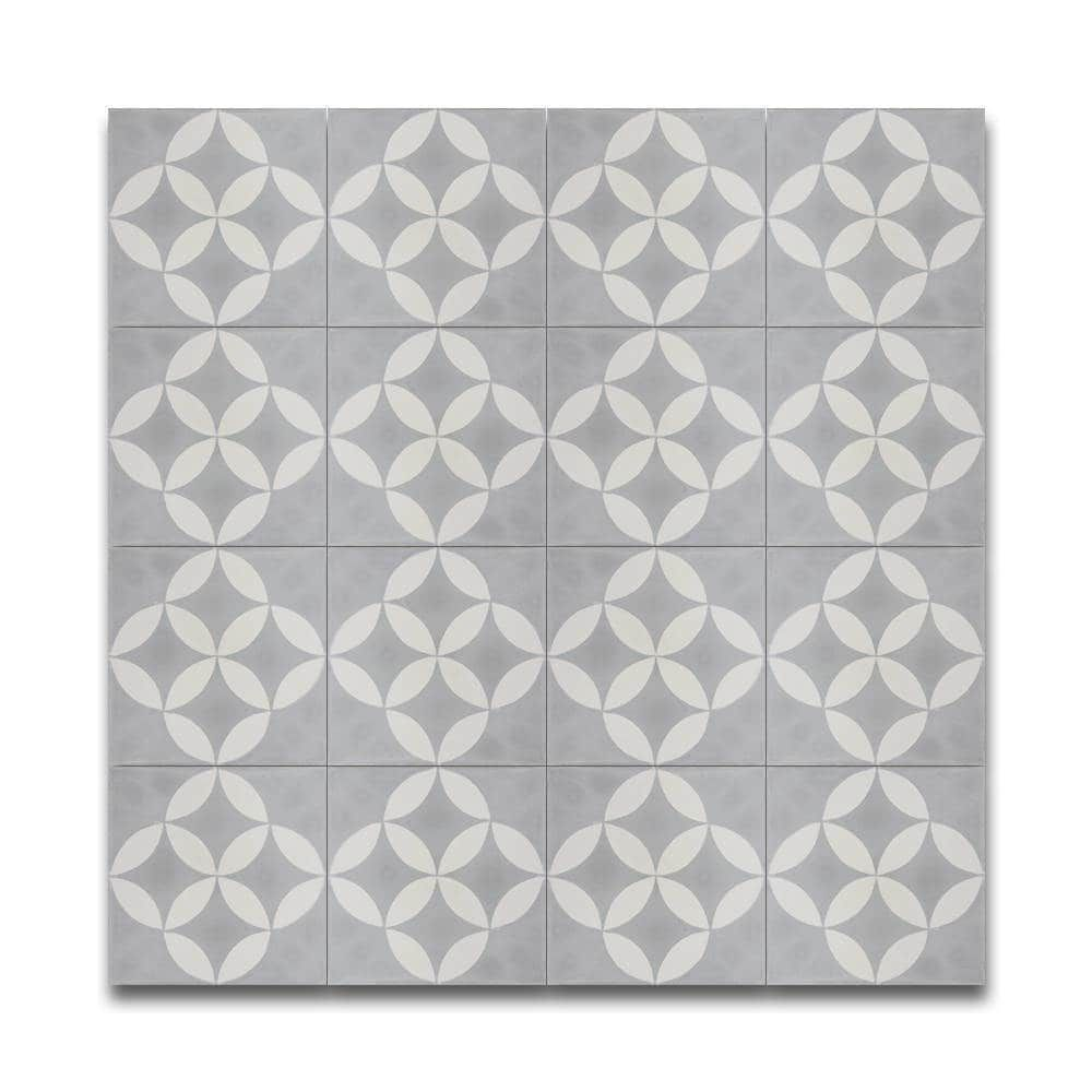 Amlo grey and white handmade moroccan 8 x 8 inch cement and granite amlo grey and white handmade moroccan 8 x 8 inch cement and granite floor or wall dailygadgetfo Images