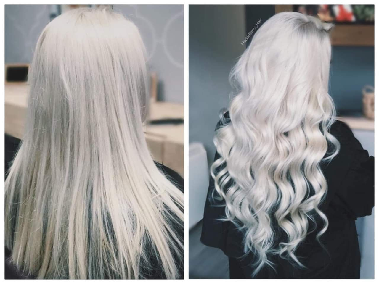 Full Head Remy Clip In Human Hair Extensions Ice Blonde With