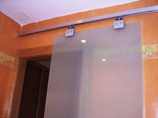 puerta corredera cristal con marco de madera | Puertas ...