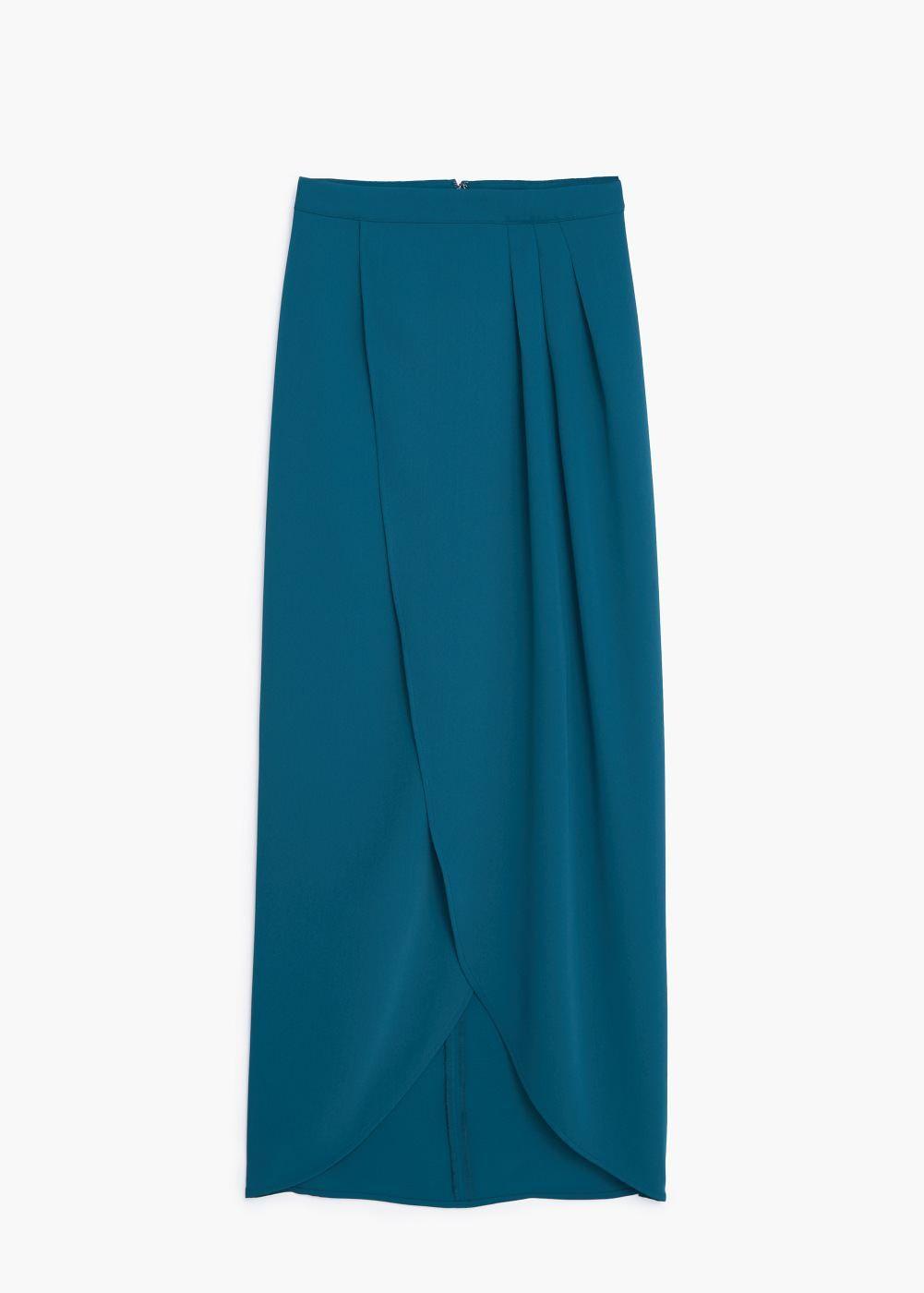 c2340896d Falda larga cruzada - Mujer en 2019   mis modas   Faldas largas ...