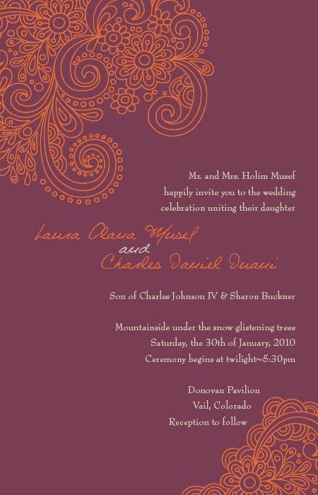 Modern Indian Wedding Invitations Wedding Reception Invitations