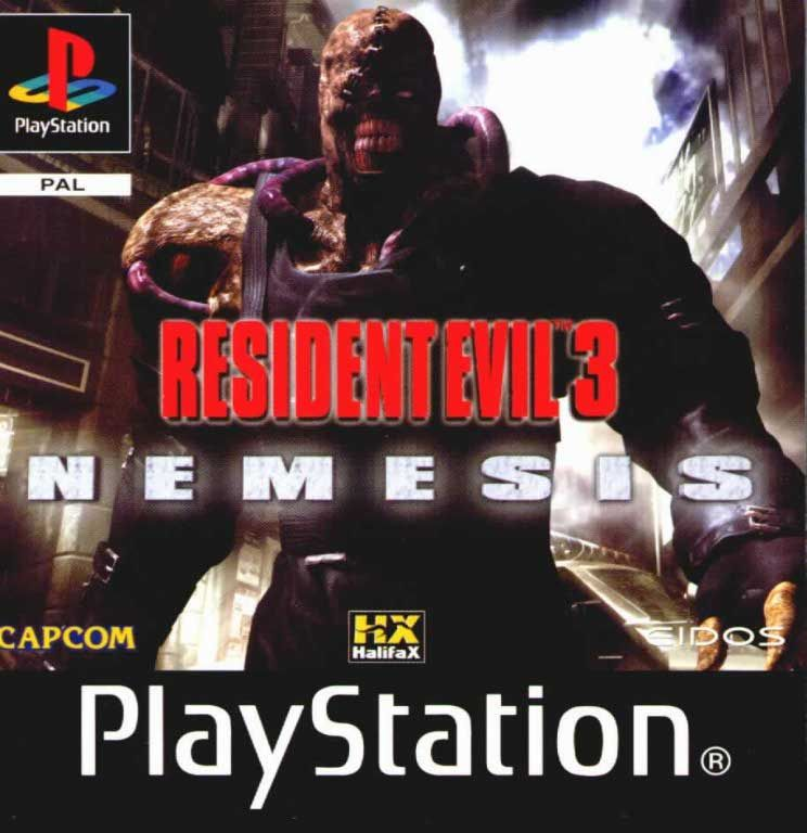 Resident Evil 3 Nemesis Pal Psx Front Playstation Covers Cover