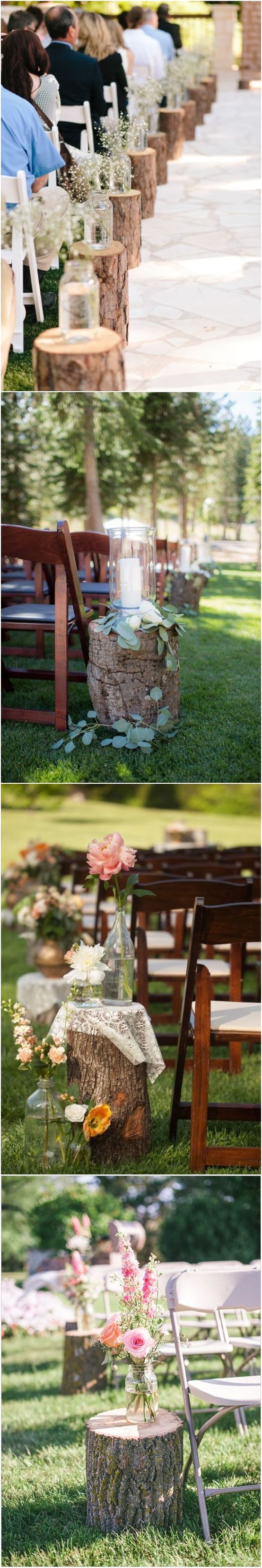 Wedding decoration ideas 2018  Rustic Woodsy Wedding Trend   Tree Stump  Rustic country