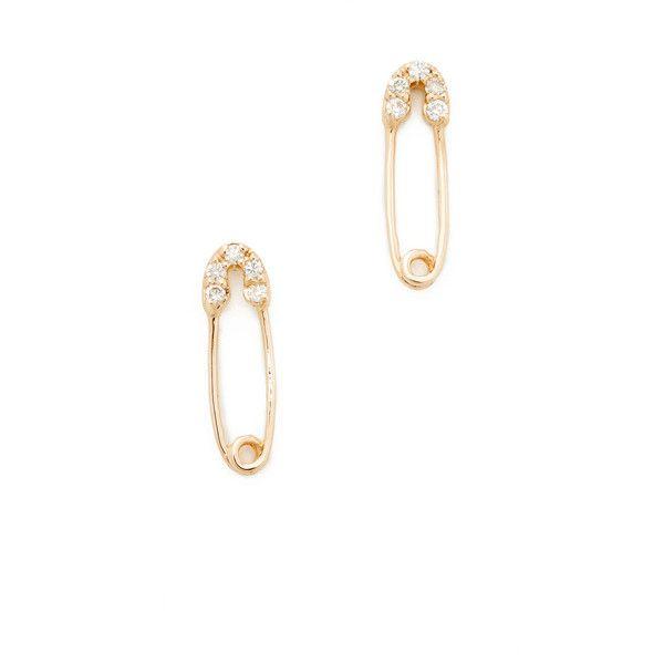 Sydney Evan 14k Gold Safety Pin Stud Earrings lWFEz8w9ES