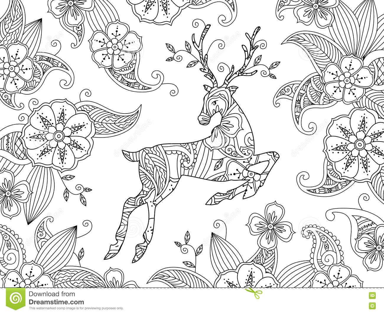 Pin de Barbara en coloring deer | Pinterest