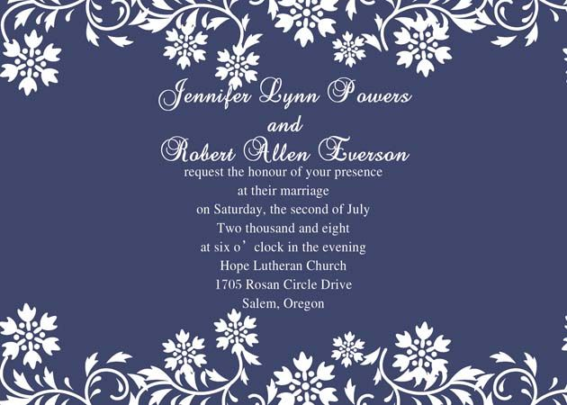 navy blue background wedding invitation iwi069 wedding invitations
