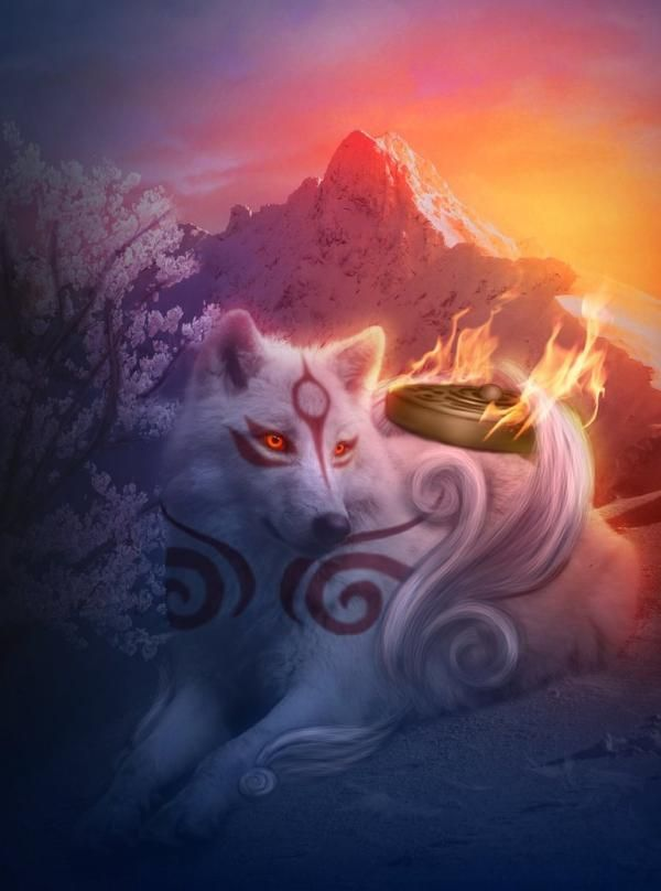 The Spirit of the Wolf live's on !!!okami_amaterasu_by_marilucia600_808