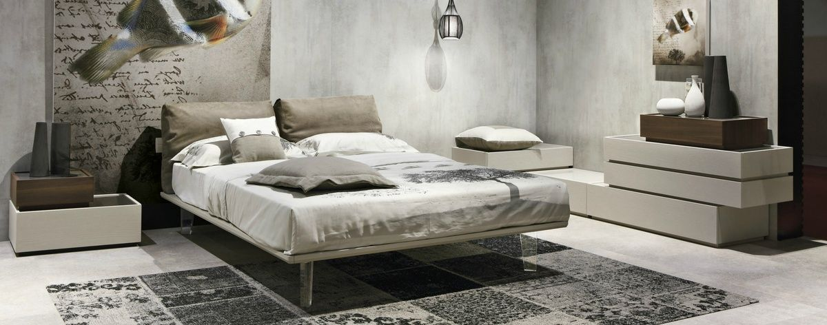 Tomasella Piuma unusual Italian bed contemporary large cushions ...