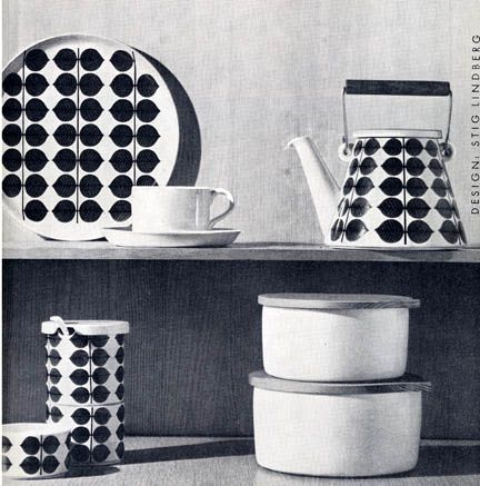 Bersa Dish ware by stig lindberg #dishware Gustavsberg  -- Bersa table/kitchenware, designed by Stig Lindberg __ images c2007 grainedit.com #dishware