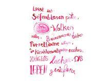 Lebensfreude Spruch handgemalt als Print | sprüche | Decals, Decor