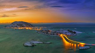 Sociolatte: The bridge leading out to Tromsø, Norway [1920x108...