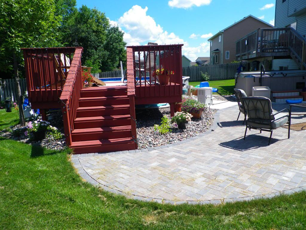 ground pools and above landscaping pool deck ideas wooden around inground for