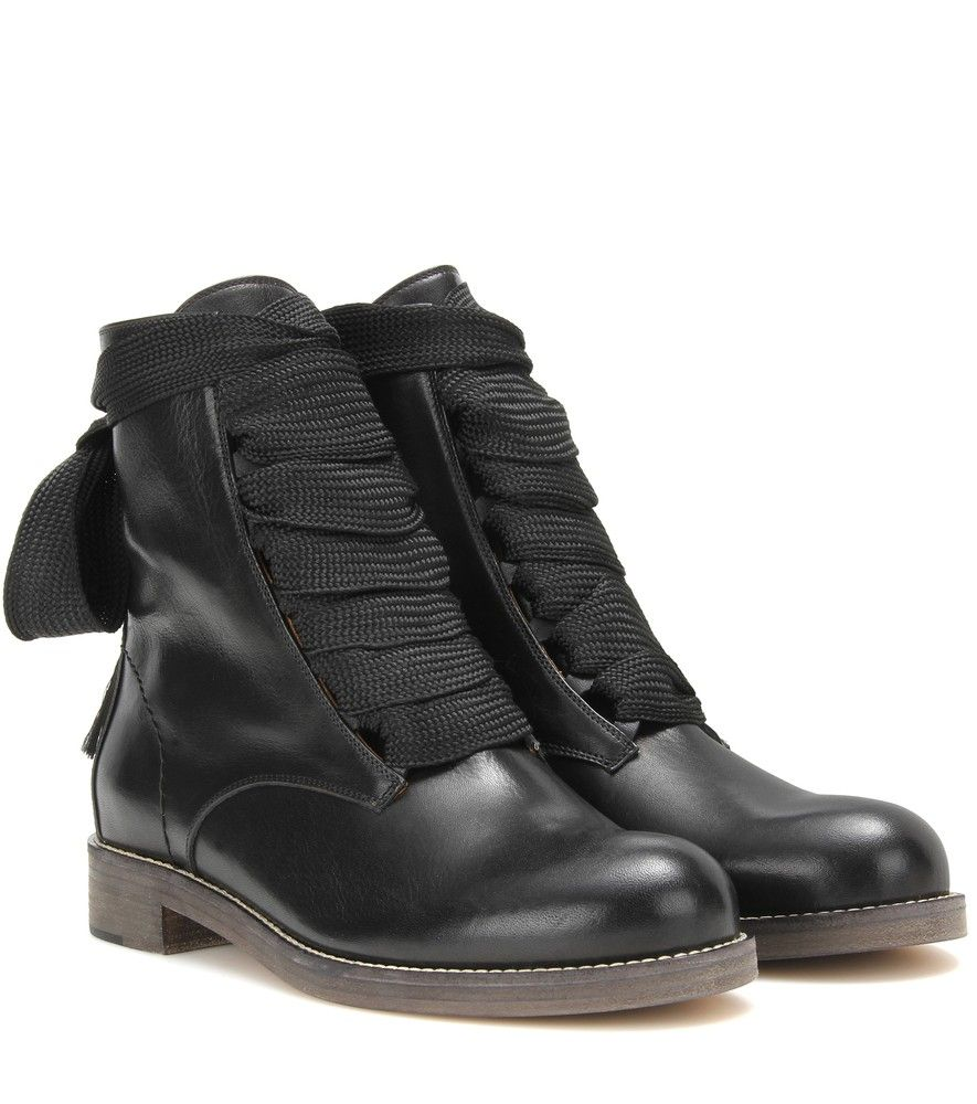 47773efa Chloé - Harper leather ankle boots - The rebellious all-black ...