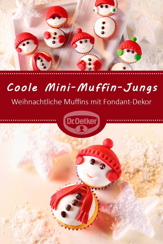 Coole Mini-Muffin-Jungs | Rezept in 2018 | Weihnachtsbäckerei ...