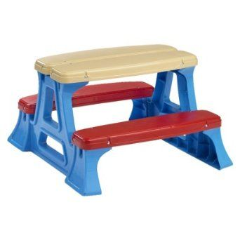 Amazon.com: American Plastic Toy Picnic Table: Toys & Games$20