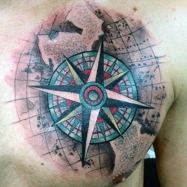 Top 63 Compass Tattoo Ideas 2020 Inspiration Guide Compass Tattoo Compass Tattoo Design Compass Rose Tattoo