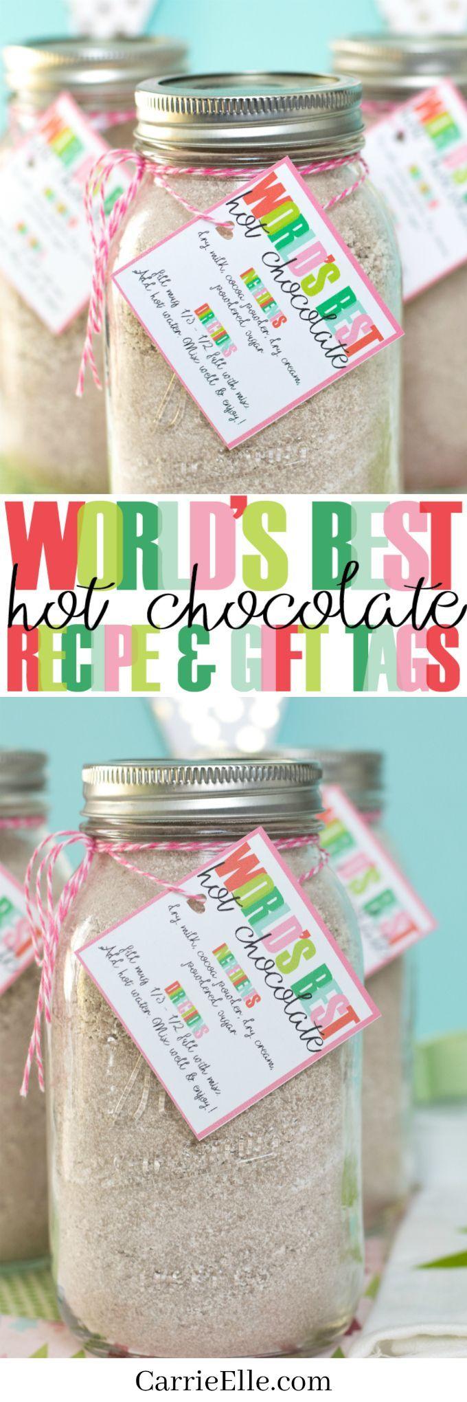 Worldus best hot chocolate recipe u printable gift tags perfect