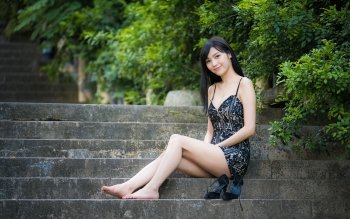 65 Barefoot Hd Wallpapers Background Images Wallpaper Abyss Page 2 Asian Model Long Hair Styles Beautiful Dresses