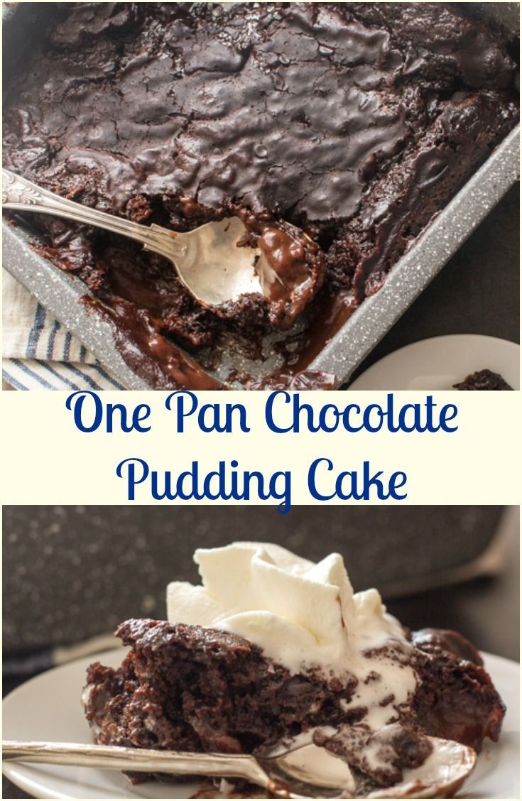 One Pan Chocolate Pudding Cake A Fast And Easy Chocolate Dessert Recipe So Yummy Eat Chocolate Pudding Cake Chocolate Pudding Desserts Tasty Chocolate Cake