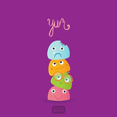 Mochi themed illustration backgrounds for  iphone and iPad from Duck Duck Moose