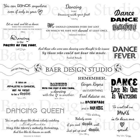 Dance Quotes:Dance Clip Art, Dancing Clip Art, Ballet Clip Art, Hip Hop Clip Art, Printable Dancing Quotes, Planner Clipart, #21019 #quotesaboutlittleboys