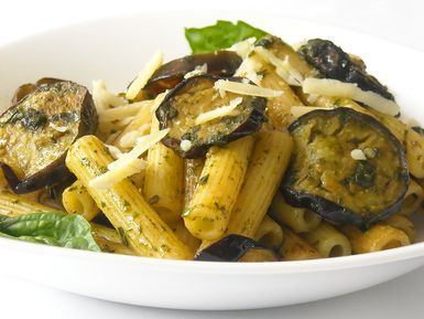 Baked Rigatoni with Eggplant and Garlic Sauce Recipe
