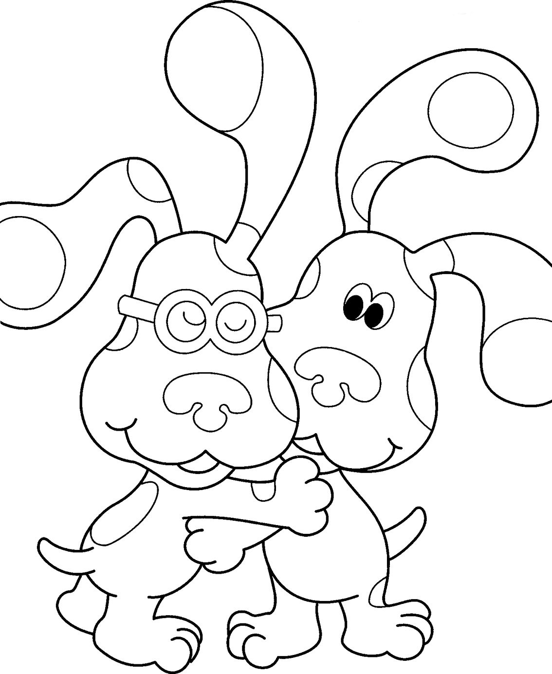 Blues Clues Coloring Pages Httpcolorings.cobluescluescoloring  Colorings  Pinterest