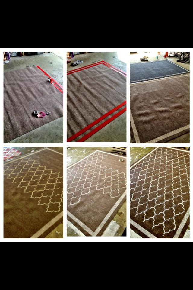 DIY stenciled rug | Stencil diy