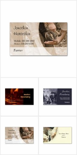 Farriers and horseshoeing businesses card collection rural farriers and horseshoeing businesses card collection colourmoves