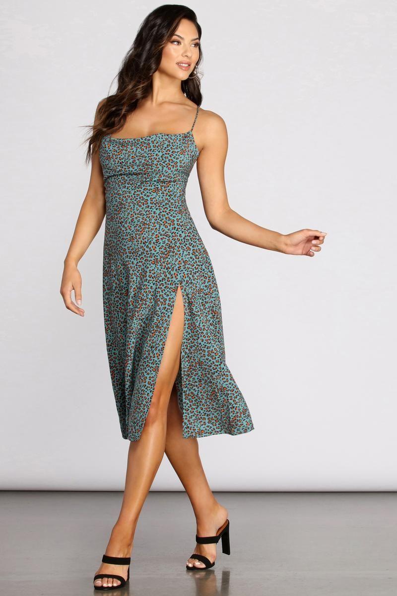 Hear Meow Out Leopard Midi Dress Summer Formal Dresses Summer Dresses Dresses [ 1200 x 800 Pixel ]