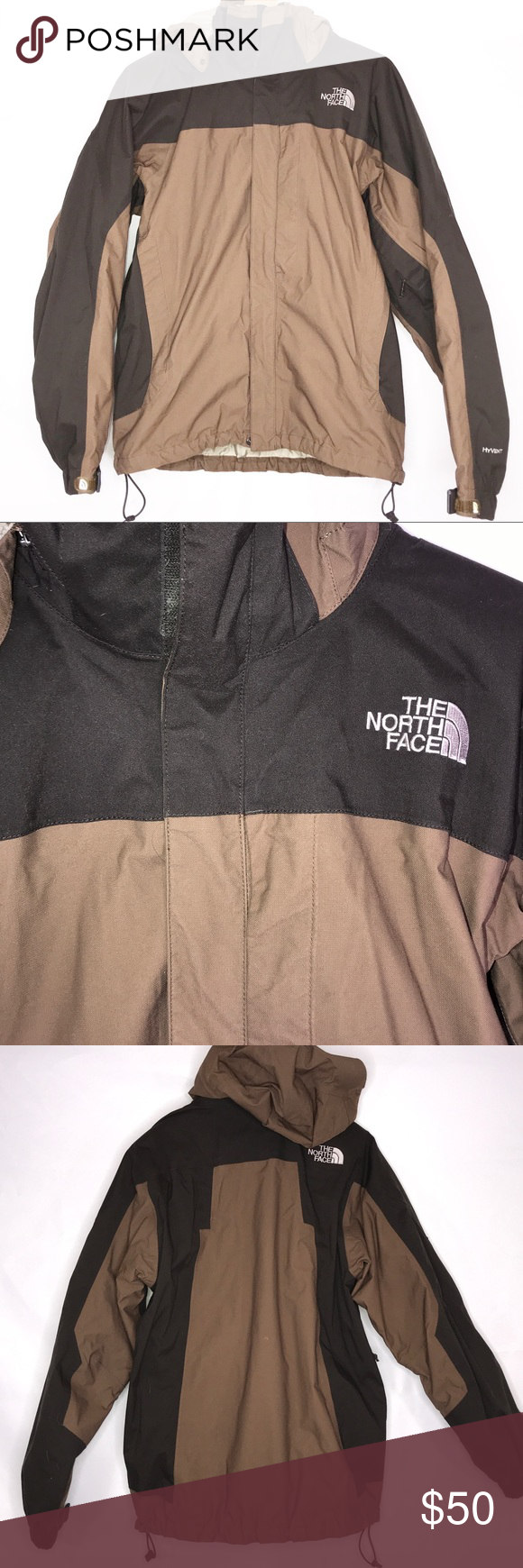 The North Face Men S Medium Brown Jacket Hyvent Brown Jacket North Face Mens Jackets [ 1740 x 580 Pixel ]