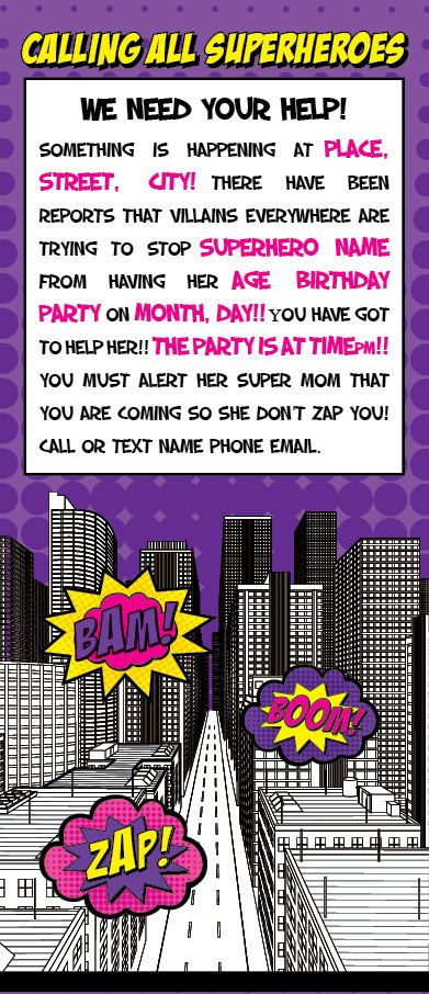 Your little super hero will love this invitation this listing is your little super hero will love this invitation this listing is for the printed 4x9 invitation this is printed on 80lb cardstock i can customiz stopboris Image collections