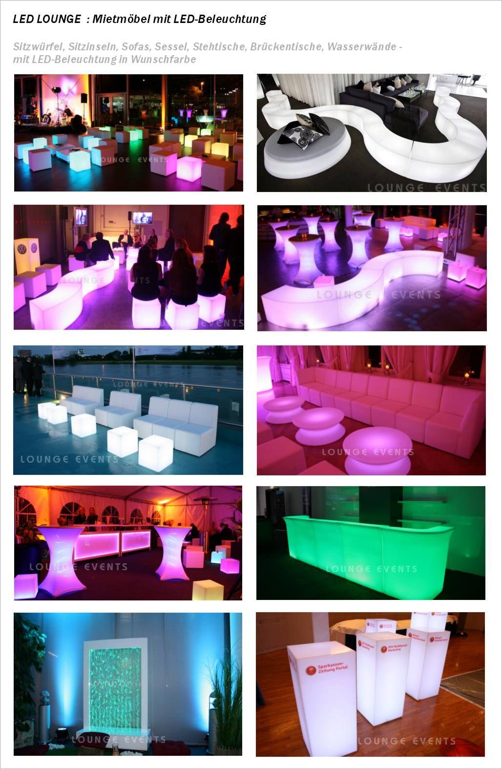 Lounge Events Mietmobel Loungemobel Mieten Led Mobel Verleih Vermietung Verleih Lounge Lounge Mobel