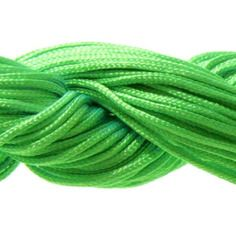 Lot 5m cordon nylon spécial shamballa vert fluo 1mm