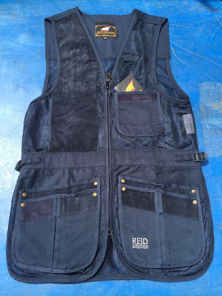 Reid navy blue mesh skeet vest sporting clay pigeon