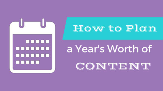 Do you want to create more content but stuck with what topics to write about? Here's how to plan a year's worth of content.  #contentplanning #blogging