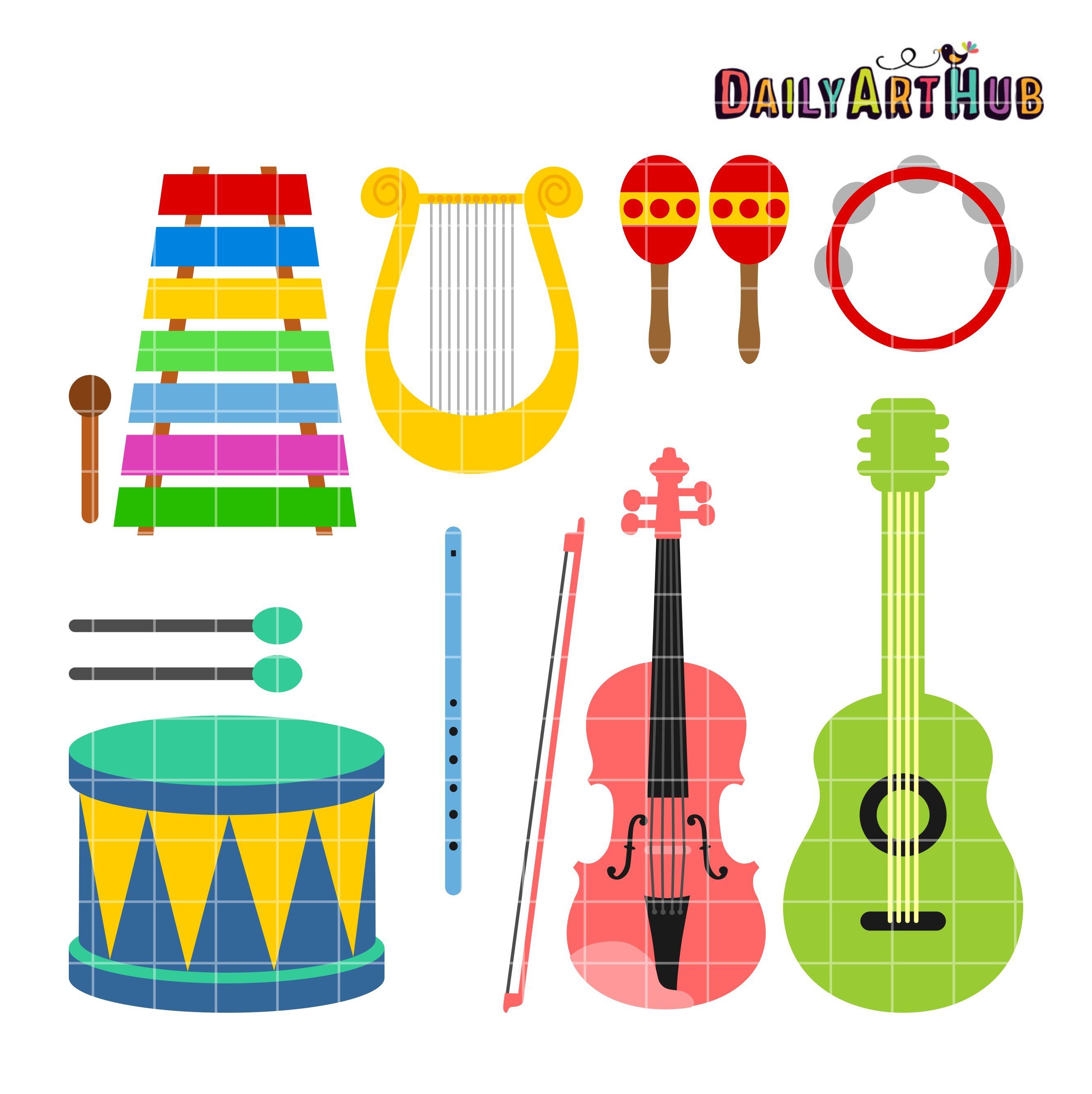 Musical Instruments Clip Art Set Daily Art Hub Free Clip Art Everyday Clip Art Art Set Free Clip Art