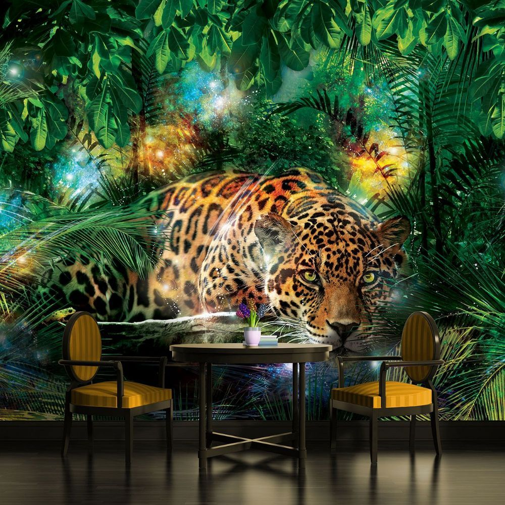 Tiger king of the jungle wallpaper mural for bedrooms in