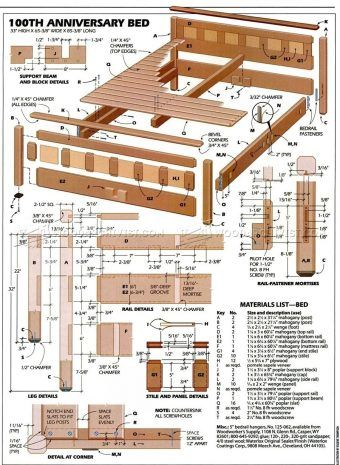 1569 bedroom furniture plans furniture plans and projects home rh pinterest co uk farmhouse bedroom furniture plans mission bedroom furniture plans