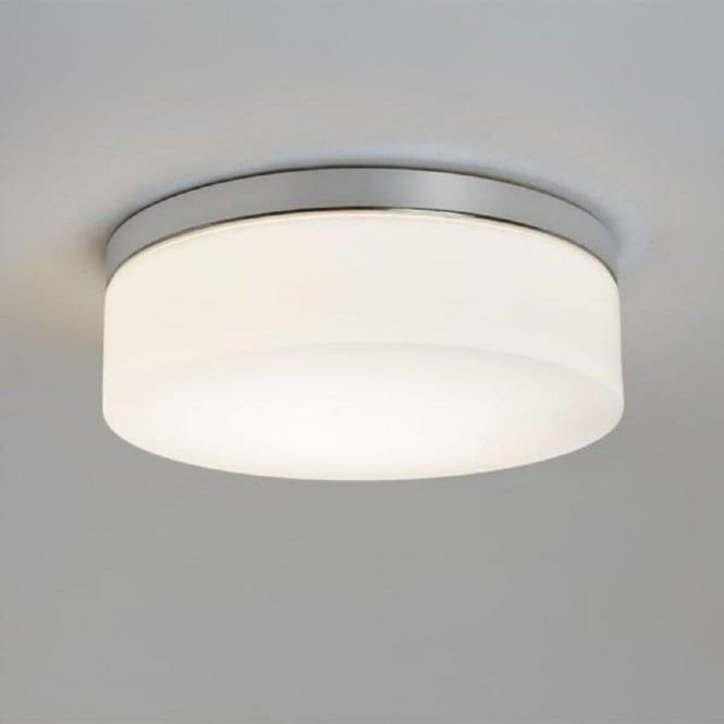 The Larger Circular Sabina Bathroom Ceiling Light Shown Here Is Fixed To On A