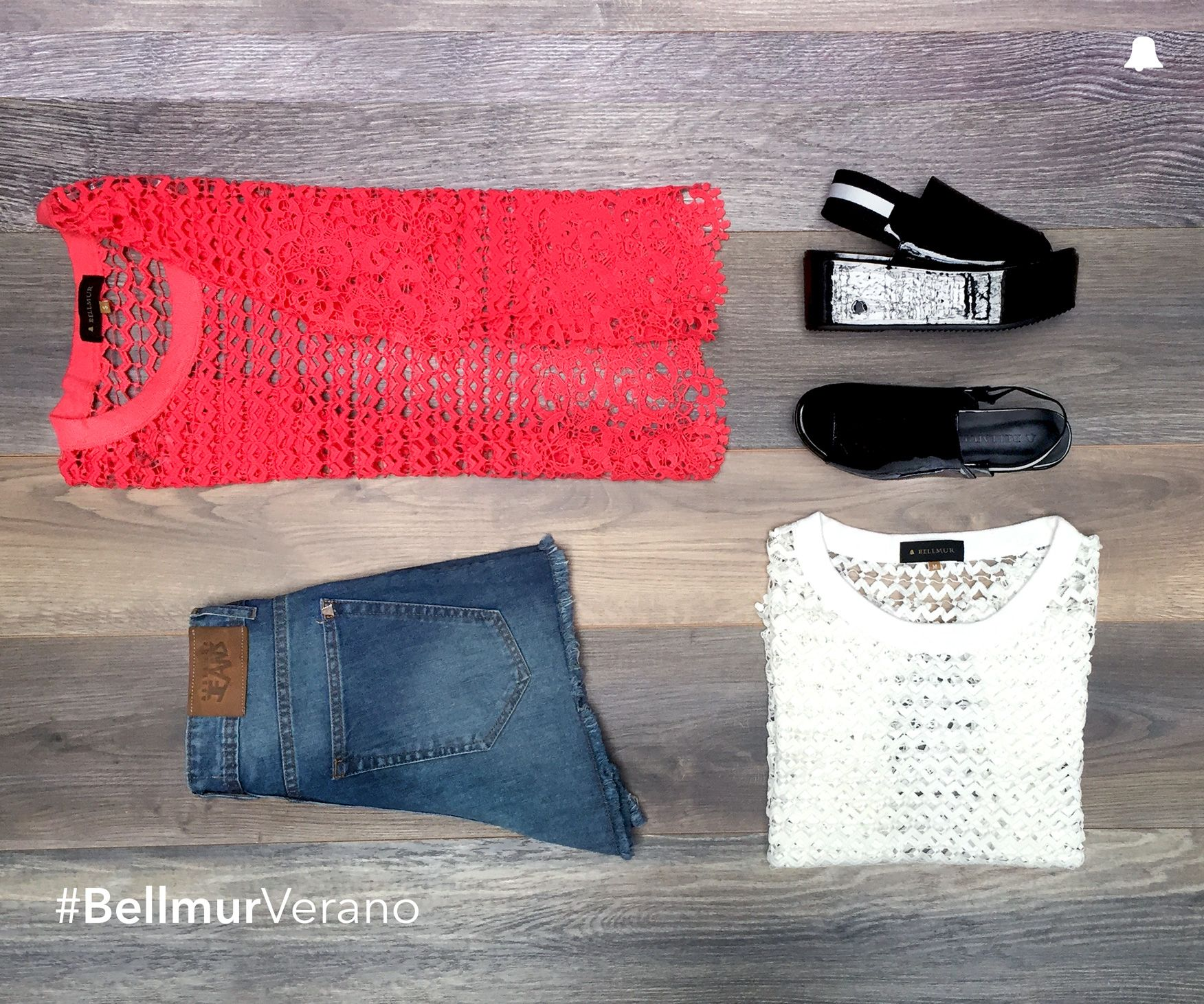#BellmurVerano   - Blusa Granate // BLBELL33 - Short // ÁMBAR - Plataformas Ónix // ZBELL133  ¡Te esperamos en nuestro local de Montevideo Shopping!