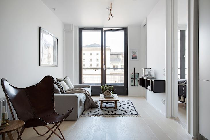 Decoraci n departamentos peque os 2 ambientes en 53 for Decoracion living departamento 2 ambientes