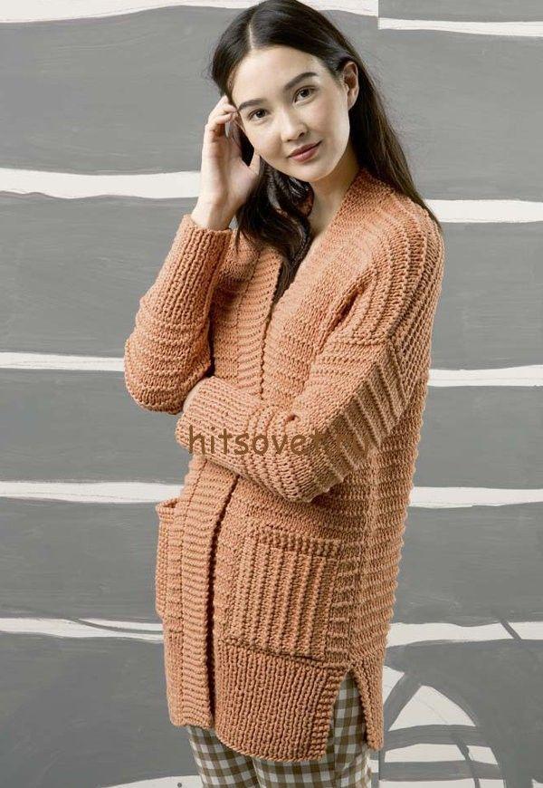 Вязание кардигана для женщин спицами http://hitsovet.ru ...