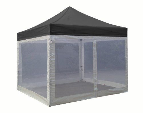 Eurmax Basic Ez Pop up Canopy with Four (4) Screen Walls and Wheeled Bag  sc 1 st  Pinterest & Eurmax Basic Ez Pop up Canopy with Four (4) Screen Walls and ...
