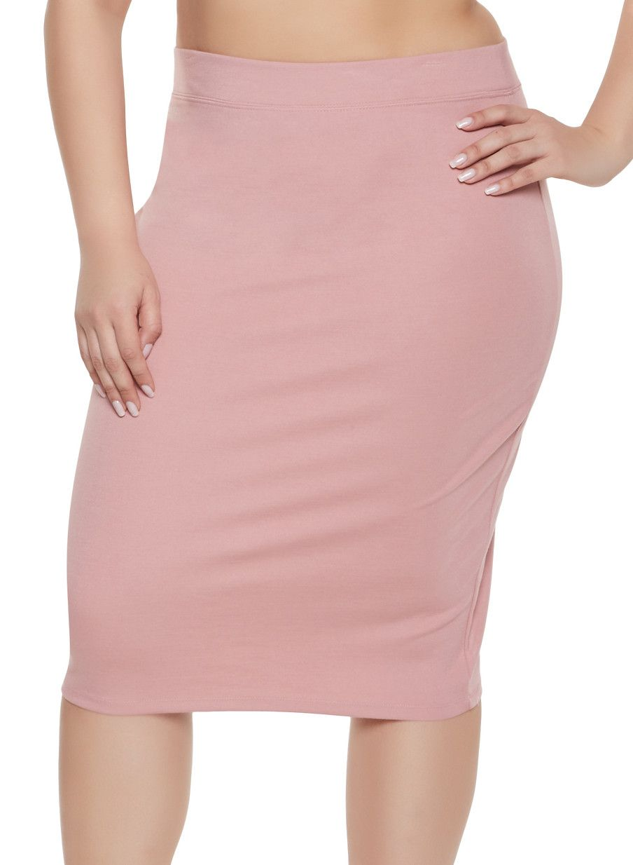 c1e0d8d269 Plus Size Ponte Pencil Skirt in 2019 | Products | Pencil skirt ...