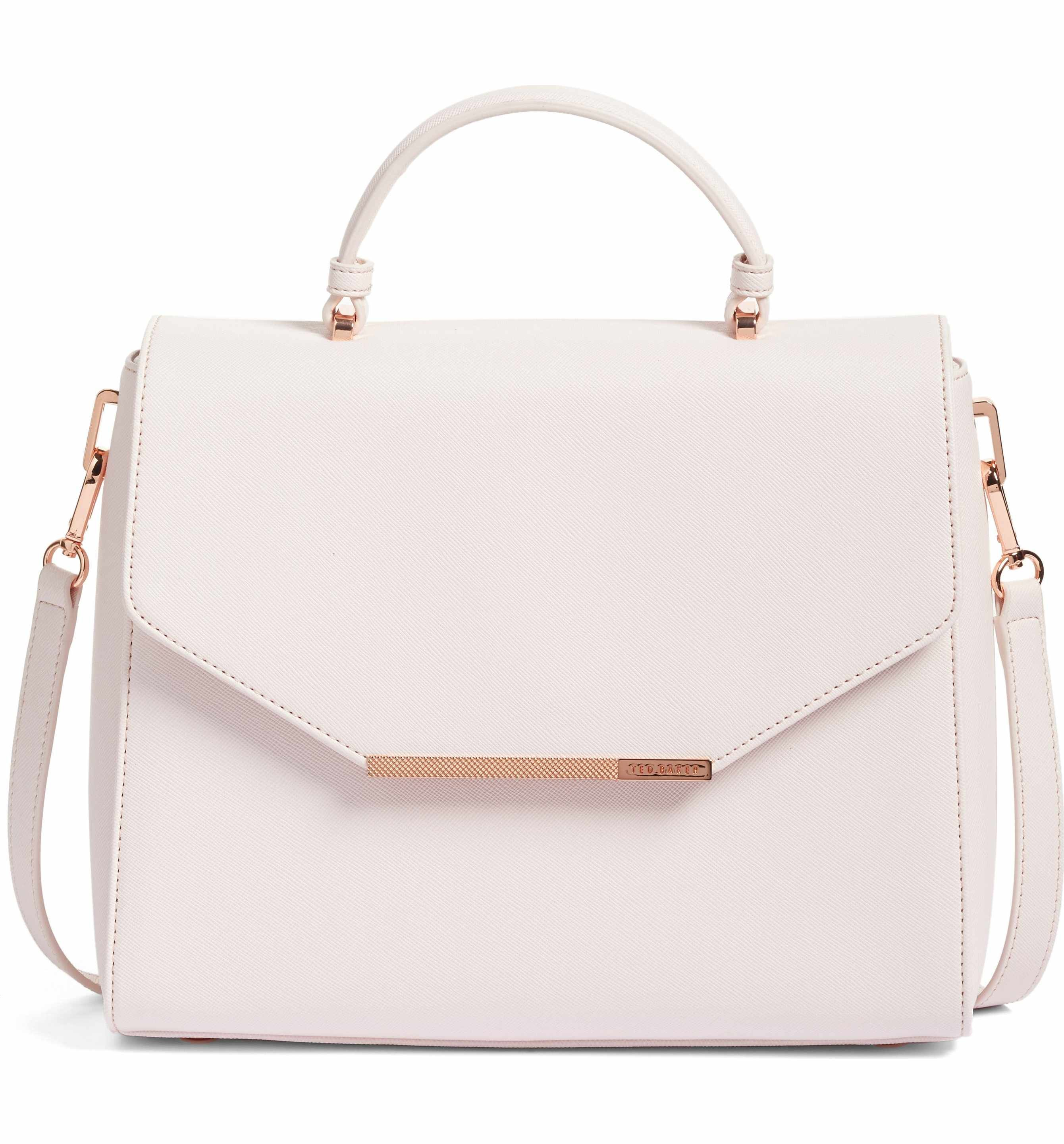 5e7d302b09d27 Main Image - Ted Baker London Large Dajana Faux Leather Top Handle Satchel  (Nordstrom Exclusive)