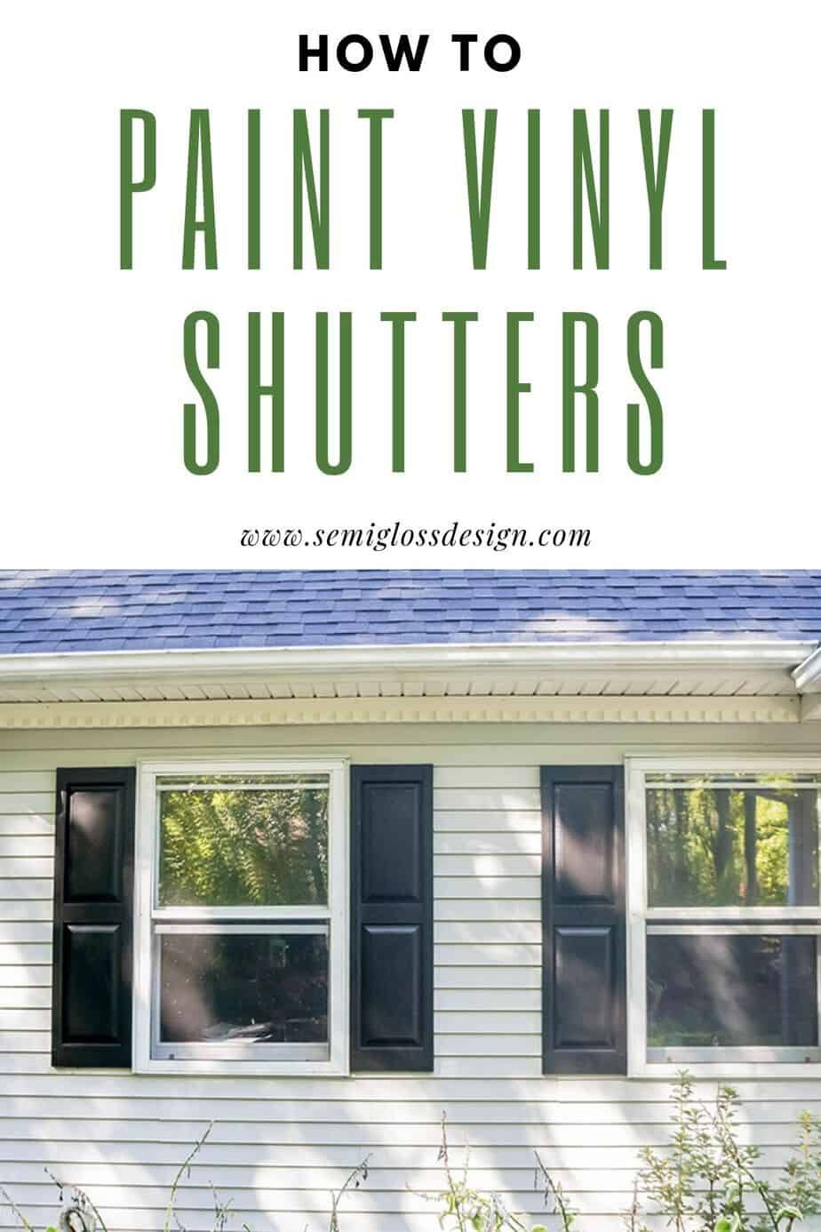 The Lazy Girl S Guide On How To Paint Shutters To Improve Curb
