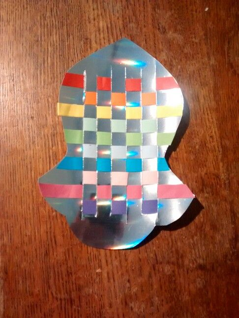 Na'layn/Prophet's (saw) sandal.. paper weaving - precut card and strips in rainbow colours - makes a brilliant and fairly quick, kids mawlid party activity
