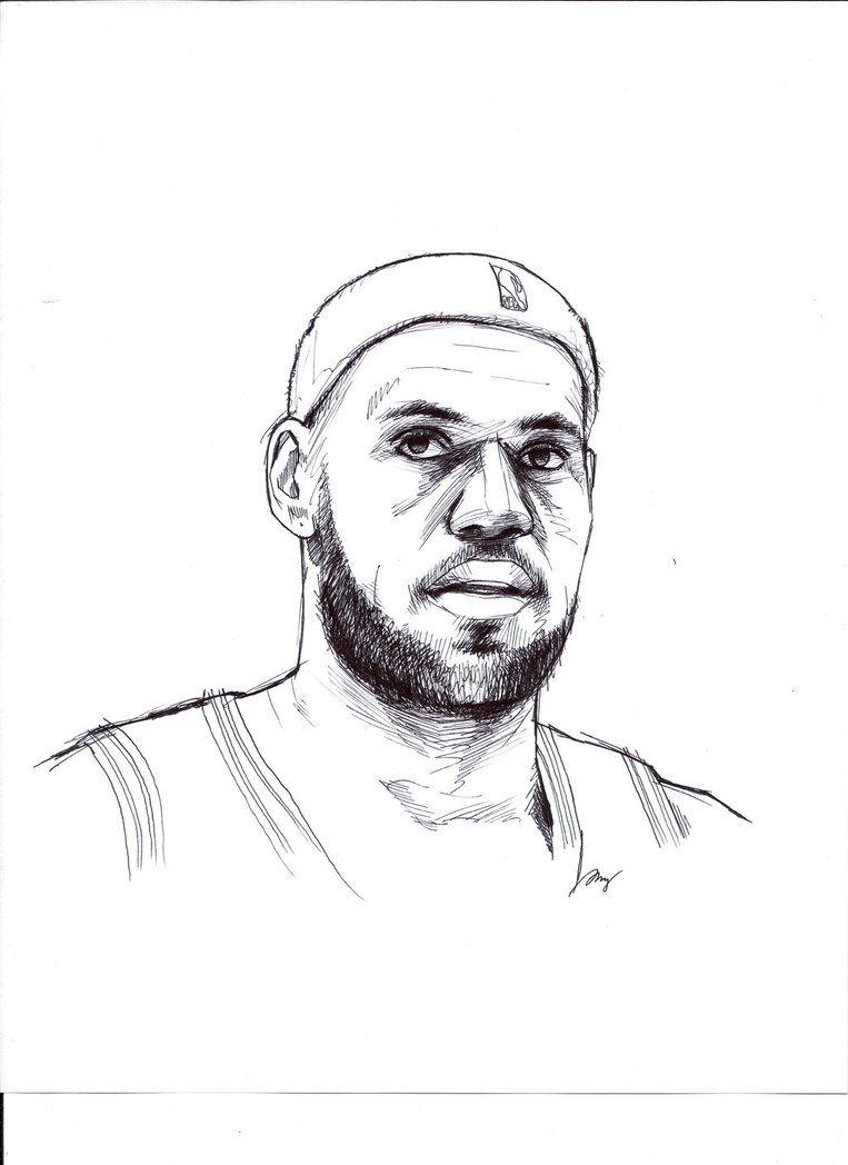 How To Draw Lebron James : lebron, james, LeBron, James, Drawing,, Lebron, James,, Painting